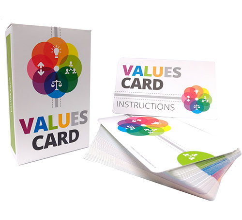 personal values card sort instructions